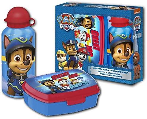 Patrulla Canina Patrulla canina-PW16234 cantimplora + sandwichera, Color Azul, Rojo (Kids Euroswan PW16234)