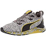 PUMA Men's Hybrid Runner Sneaker Black White-Blazing Yellow, 14 M US