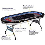 ESPN 10 Player Premium Poker Table With LED Lights Deal
