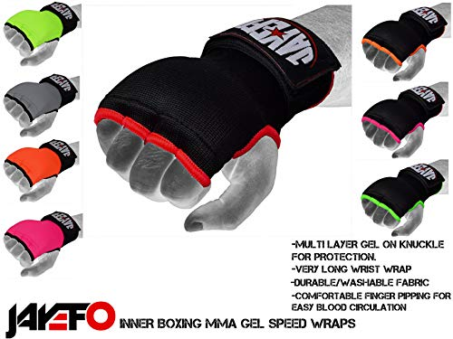 Jayefo Quick Speed Gel Wraps Inner Boxing Hand Wraps Speed Wraps FIST Protection Boxing Gloves MMA Wraps | Pair.