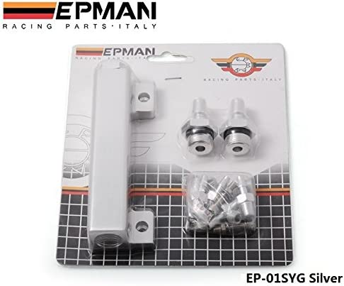 Racing Vacuum Manifold Kits Aluminum Turbo Wastegate Boost Vacuum Intake Manifold 6 Port 1//8 NPT 4 Colors
