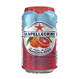 Gourmet Food : San Pellegrino Sparkling Fruit Beverages, Aranciata Rossa/Blood Orange 11.15-ounce cans (Total of 24)