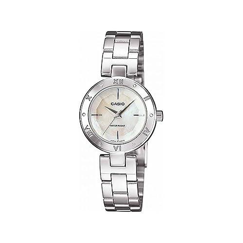 d79a2f16f2ca Casio LTP-1342D-7CEF – Reloj analógico de cuarzo para mujer con correa de  acero inoxidable