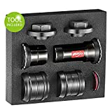 Token 2019 Threaded-Press Fit Bottom Bracket for BB86/BB89.5/BB92/BB30/PF30 Frame to SRAM GXP 22-24mm Crank fit MTB/Road Bike, Ninja 5in1 BB (Including Tools)