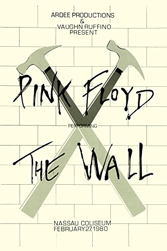 (Innerwallz Print Pink Floyd The Wall Tour 1980 Retro Art Print - Poster Size - Print of Retro Concert Poster - Features Roger Waters, David Gilmour, Nick Mason and Richard Wright.)