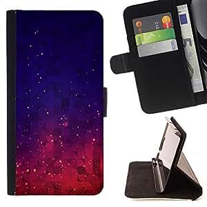 For Sony Xperia Z2 D6502 Case , Espacio Nebulosa Cosmos Estrellas Cielo- la tarjeta de Crédito Slots PU Funda de cuero Monedero caso cubierta de piel