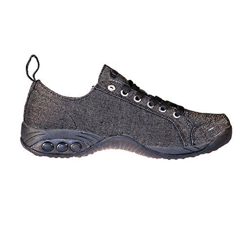 Zip Women's Sienna Side Walking Black Casual Sport Shoe Therafit Shoe waUq5HSIq