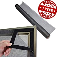 Sharabani Mosquito Net for Windows (48/36 INCHES (or) 4/3 FEET (or) 120/90 cm) (Black Colour) with Stitching