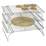 Charmed Silver 3-Tier Stackable Cooling Rack 13.5x 9.5 inch