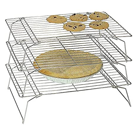 Charmed Silver 3 Tier Stackable Cooling Rack 13 5x 9 5 Inch