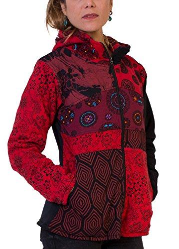Rouge Veste Monde Multicolore ALVEN Coton Du x6On7fI4