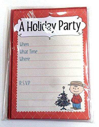 Hallmark Peanuts 10 Count A Holiday Party Invitations ()