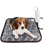 RIOGOO Pet Heating Pad, Dog Cat Electric Heating Pad Waterproof Adjustable Warming Mat with Chew Resistant Steel Cord