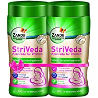 Zandu StriVeda Satavari Lactation Supplement for Increasing Breast Milk Supply, Monthly Pack – 2 x 210 g (Pack of 2)