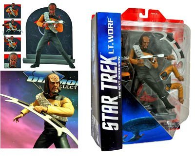 Star Trek The Next Generation Lt. Worf Action Figure Set - Diamond Select Toys - Factory-Sealed UNCIRCULATED Action Figure plus Accessories.