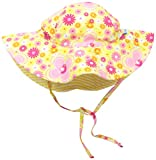 i play. Baby Girls' Reversible Brim Sun Protection Hat, Fiesta Floral, 9-18 Months