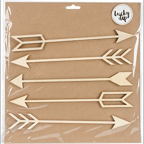 Kaisercraft Lucky Dip Wood Flourish-Arrows 1.5