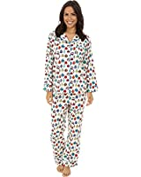 BedHead Women's Long Sleeve Classic Flannel PJ Set