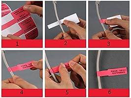 20 x Kabeletiketten Kabelbeschriftung Kabelkennzeichnung Mehrfarbig