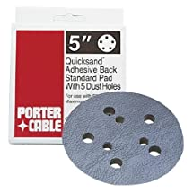 PORTER-CABLE 13901 5-Inch, 5 Hole Standard Adhesive-Back Sanding Pad (for 334 Random Orbit Sander)