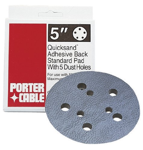 PORTER-CABLE 13901 5-Inch, 5 Hole Standard Adhesive-Back Sanding Pad (for 334 Random Orbit Sander) ()