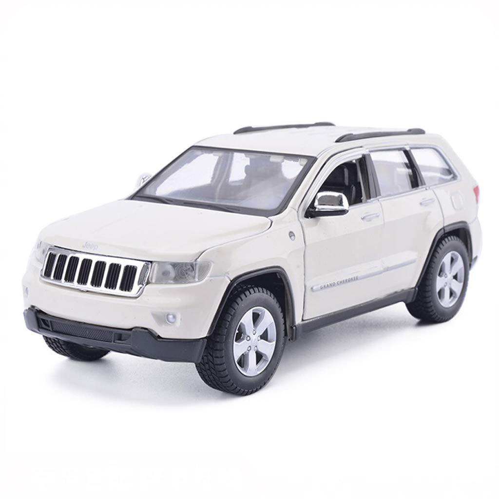 DUWEN-Modello di auto SUV Modello in Lega 1 24 Modello di Auto Giocattolo Modello Grand Cherokee Model Car Collection Ornaments