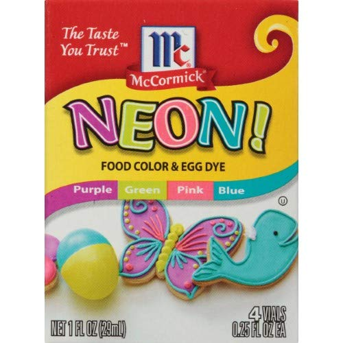 McCormick Assorted Neon Food Coloring Kit, Multi-Colored (Pack of 24)