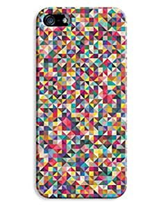 Indie Colour Triangles Pattern Design iPhone 5 5S Hard Case Cover
