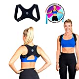 Posture Corrector for Men and Women- FDA Approved Fully Adjustable and Lightweight Back Brace for Neck, Shoulder & Back Pain Relief- Best Slouching Corrector for Improved Posture (One Size)