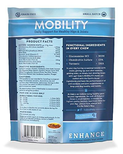 Zuke's Enhance Mobility Chicken Formula Functional Dog Chews - 5 oz. pouch by Zuke's (Image #1)