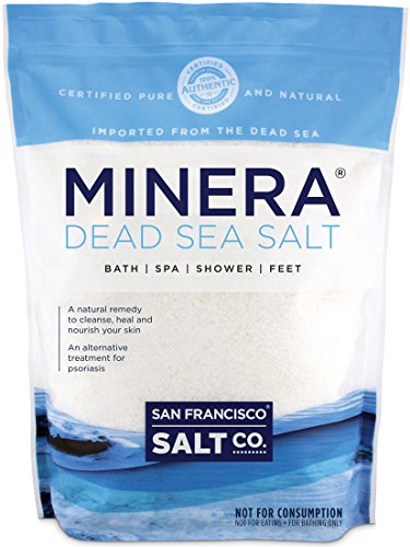 Minera Dead Sea Salt, 20lbs Fine. 100% Pure and Certified. Natural treatment for psoriasis, eczema, acne and (Dead Sea Bath Salts)