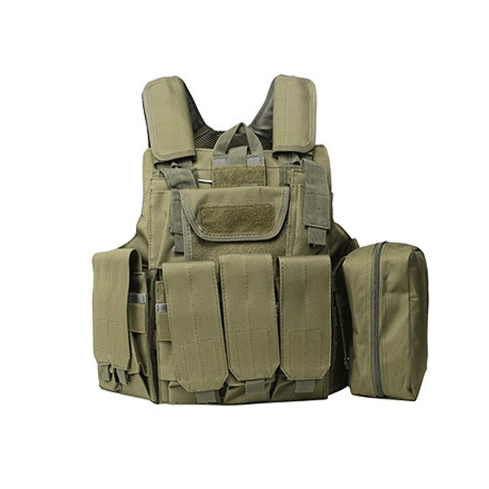 LXY&AI Militär Tarnung Taktische Weste - Outdoor Cs Feldschutz Ausrüstung Molle - Atmungsaktive Ausbildung Schutz Air Gun Weste Nylon Einstellbare Weste - Schwarz