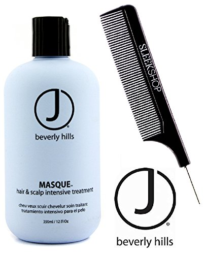 J Beverly Hills MASQUE Hair & Scalp Intensive Treatment Mask (with Sleek Steel Pin Tail Comb) (12 oz / 350 ml - RETAIL size) ()