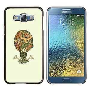 LECELL--Funda protectora / Cubierta / Piel For Samsung Galaxy E7 E700 -- Pensamientos hindúes --