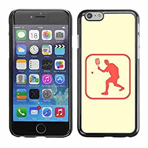 "Shell-Star ( Ping Pong Table Tennis Area ) Fundas Cover Cubre Hard Case Cover para 4.7"" iPhone 6"