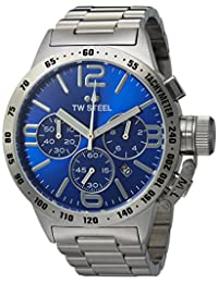 TW Steel CB13 Men's Canteen Bracelet Blue Dial Stainless Steel Chronograph Watch