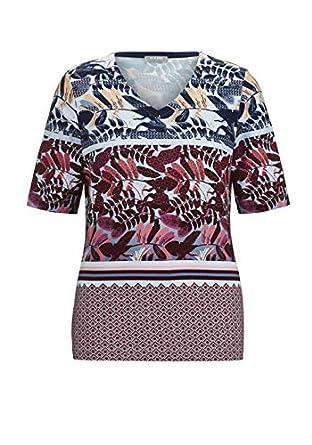 c2ab09e3f1f6b5 Rabe Damen T-Shirt mit V-Ausschnitt und Muster  Amazon.de  Bekleidung
