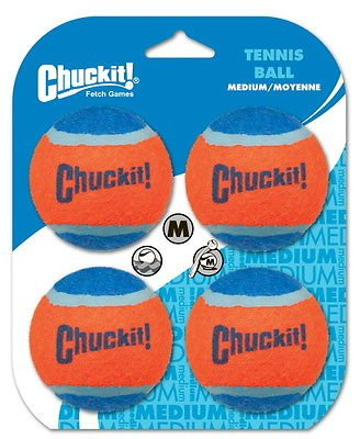 Chuckit! Tennis Ball Medium 4pk (Dog Bumper Launcher compare prices)