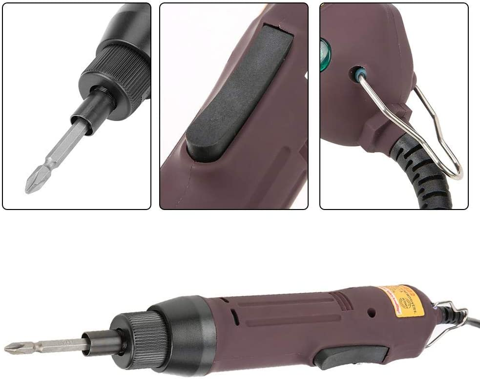 EU PLUG 220V 1//4  Mango recto de mano Destornillador el/éctrico Bidireccional Herramienta pr/áctica 220V Para extraer algunos tornillos m/ás grandes Destornillador el/éctrico