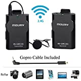 Mouriv MV-GMC201 Wireless Lavalier Microphone System for Canon 6D 600D Nikon D800 D3300 Sony A6 A9 DSLR GoPro Hero4 Hero3 Hero3+ Action Cameras &r IOS iPhone 8 8 plus 7 7 plus 6 6s Smartphone iPad