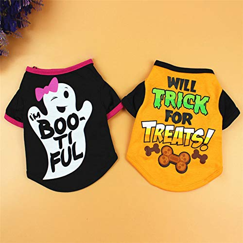 Wall of Dragon Cool Halloween Cute Pet T Shirts Clothing Small Puppy ()