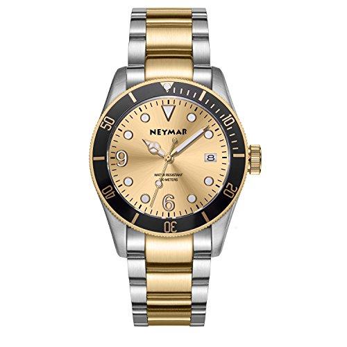- NEYMAR 41.5mm Men's Automatic Watch 300m Diver Watch 200m Stainless Steel Watch...