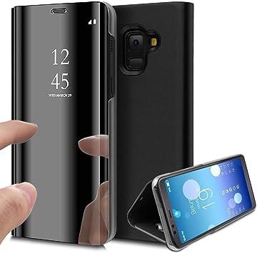 Espejo Cuero Funda para Samsung Galaxy A70, ZHXMALL Moda ...