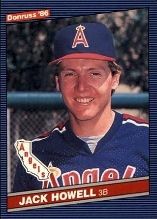 Amazoncom 1986 Donruss Baseball Card 524 Jack Howell