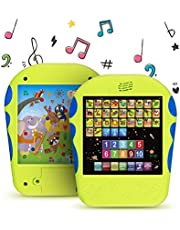 "Spanish Learning Tablet Educational Toy for Kids. Touch and Learn Spanish Alphabet Toy for Toddlers - Learn Spanish Numbers, ABC, Spelling, ""Where is?"" Game, Melodies, Animals and Sounds"