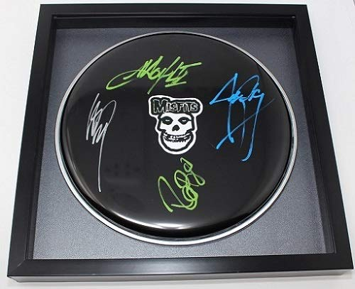 Misfits Earth A.D./ Wolfs Blood Group +4 Signed Autographed Drum Drumhead Framed Loa -