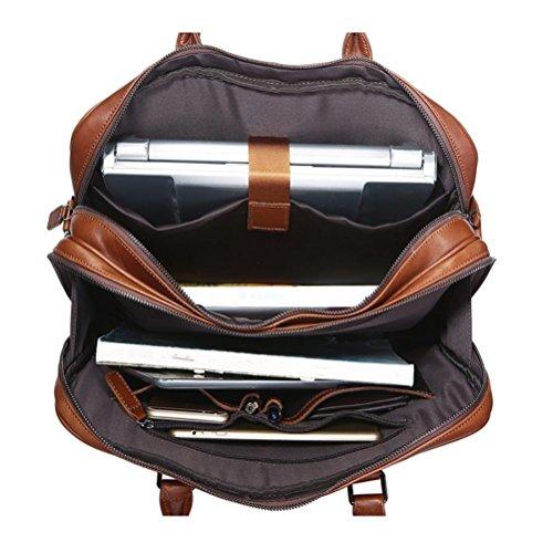 Herren Tasche Spring Summer Casual Aktentasche 15-Zoll-Computer-Tasche Aktentasche Double Haupttasche New Retro Fashion Taschen Große Kapazität Tasche Business Bag Brown Tasche Große Kapazität Multi P I8Ui2l