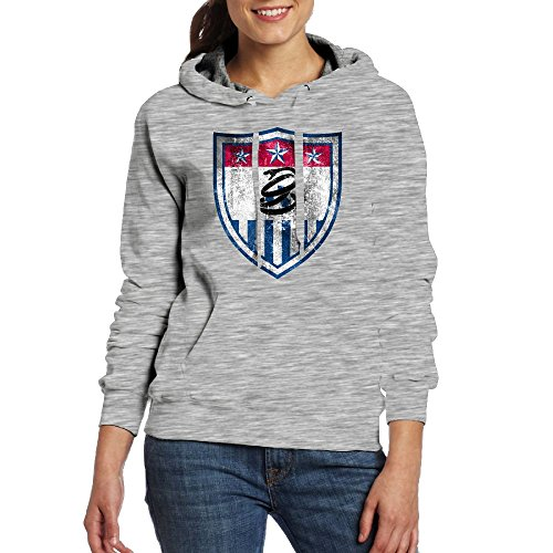 VCKFMEN Women's Dont Tread On Us Soccer Distressed Shield 3D Hoodies Sweatshirts With Pockets