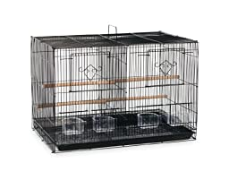Prevue Hendryx SPF063 Divided Flight Cage, Black
