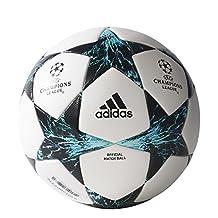 adidas Finale 17 Official Match Ball 5, White/Core Black/Dark Green/Energy Blue Energy Aqua